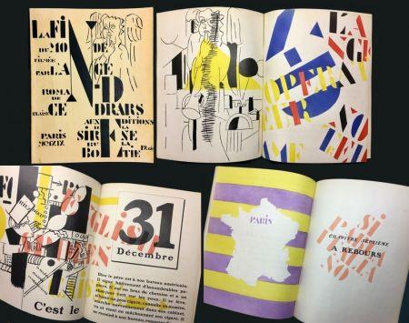 Illustriertes Buch Leger - Blaise Cendrars : La Fin Du Monde Filmée Par L'Ange N.-D. Roman. Pochoirs par Fernand Léger (1919)..
