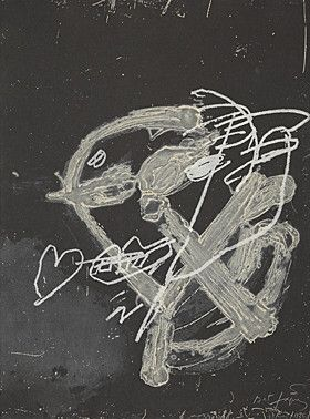 Carborundum Tapies - Blanc Sur Noir