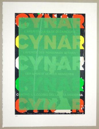 Siebdruck Rotella - Blank Cynar (verde)