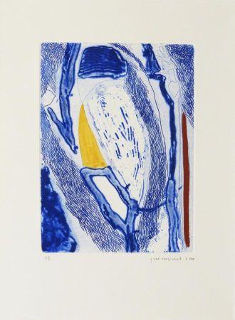 Radierung Guinovart - Blau 21