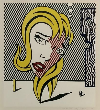 Lithographie Lichtenstein - Blonde (Surrealist Series)