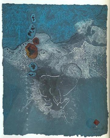 Radierung Und Aquatinta Lebadang - Blue Abstract