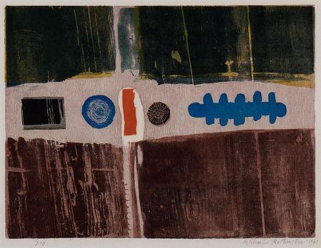 Holzschnitt Rothenstein - Blue Circle