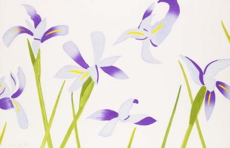 Holzschnitt Katz - Blue Irises