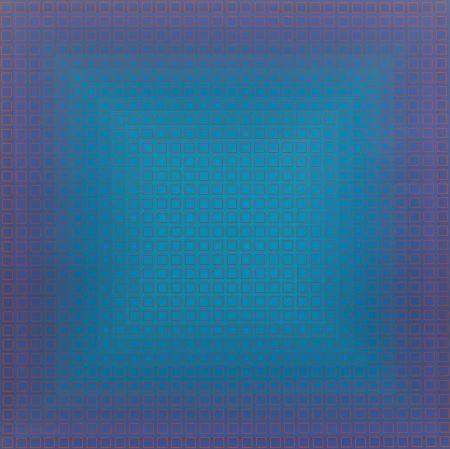Siebdruck Stanczak - Blue Orange, from Filtration Series