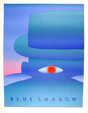 Plakat Folon - Blue Shadow (L'Aube, 1972)