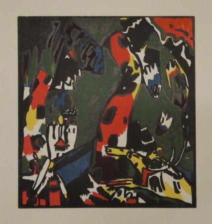 Holzschnitt Kandinsky - Bogenschütze.