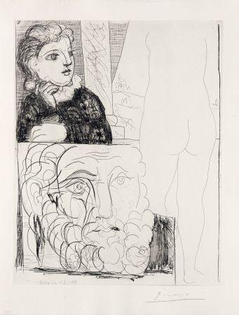 Stich Picasso - Bonne dans l'atelier de sculpture