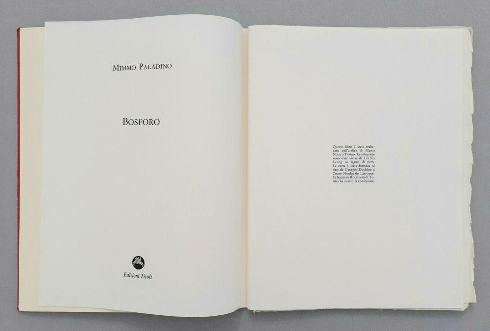 Linolschnitt Paladino - Bosforo, 1982