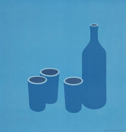 Siebdruck Caulfield - Bottle and Cups