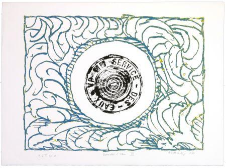 Lithographie Alechinsky - Bouche d'eau III