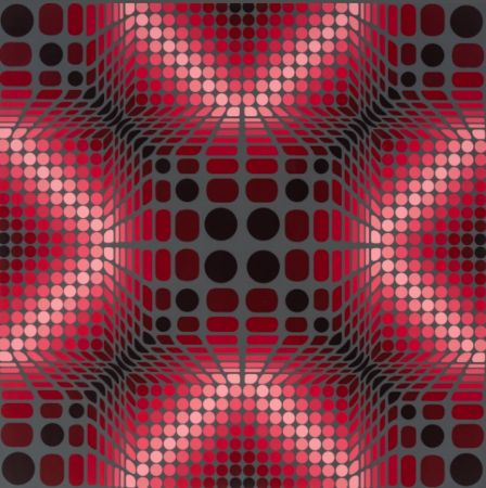Siebdruck Vasarely - Boulouss