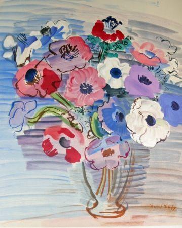 Lithographie Dufy - Bouquet de fleurs