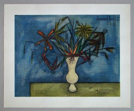 Lithographie Buffet - Bouquet de fleurs, 1951