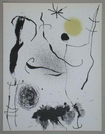 Lithographie Miró - Bouquet de rêves pour Leila