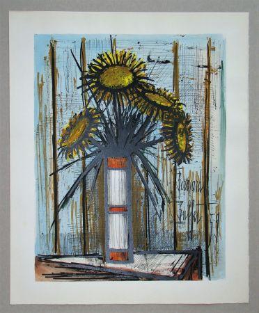 Lithographie Buffet - Bouquet de soleils, 1959