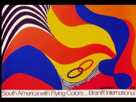 Siebdruck Calder - BRANIFF SOUTH AMERICA