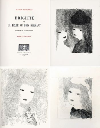 Illustriertes Buch Laurencin - BRIGITTE OU LA BELLE AU BOIS DORMANT (M. Jouhandeau. 1925)