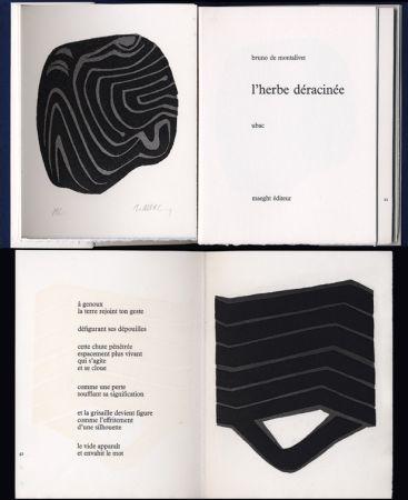 Illustriertes Buch Ubac - Bruno de MONTALIVET. L'HERBE DÉRACINÉE. Gravures de Raoul Ubac