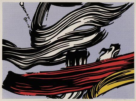 Siebdruck Lichtenstein - Brushstroke
