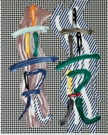Lithographie Lichtenstein - Brushstroke Contest