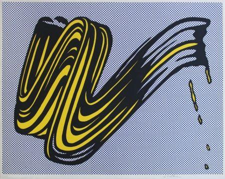 Siebdruck Lichtenstein - Brushstroke Corlett II 5