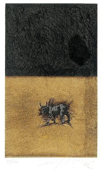 Aquatinta Paladino - Bull