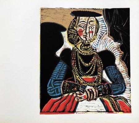 Linolschnitt Picasso (After) - Buste de femme after granache jeune