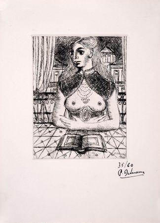 Radierung Delvaux - Buste de Femme III