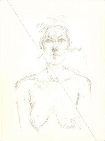 Lithographie Giacometti - Buste Ii.