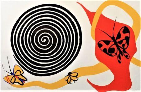 Lithographie Calder - Butterflies And Spiral