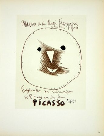 Lithographie Picasso (After) - Céramiques