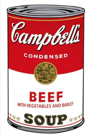 Siebdruck Warhol - '' Campbell 's  Soup ''