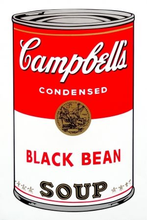 Siebdruck Warhol (After) - Campbell's Soup - Black Bean