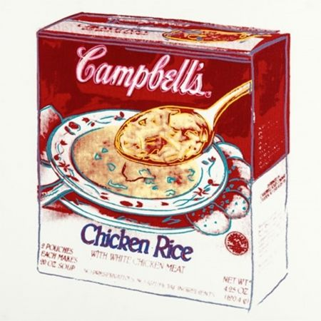 Multiple Warhol - Campbell's Soup Box: Chicken Rice by Andy Warhol