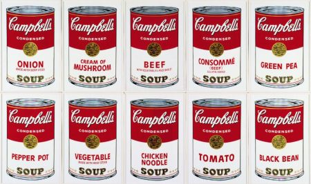 Siebdruck Warhol (After) - Campbell´s Soup Can Set of 10