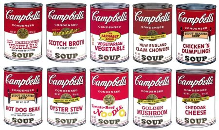 Siebdruck Warhol (After) - Campbell´s Soup Can Set of 10 Serie 2