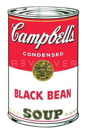 Siebdruck Warhol - Campbell's Soup I: Black Bean (FS II.44)
