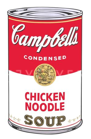 Siebdruck Warhol - Campbell's Soup I: Chicken Noodle (FS II.45)