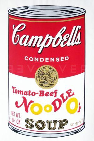 Siebdruck Warhol - Campbell'S Soup Ii: Tomato Beef Noodle O'S (Fs Ii.61)