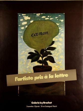 Offset Magritte - Canon L 'artiste Pris à la Lettre