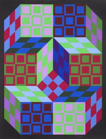 Siebdruck Vasarely - Carden