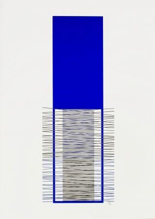 Siebdruck Soto - Caroni (Blue)