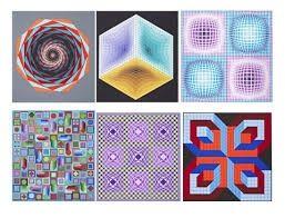 Siebdruck Vasarely - Carpeta Jalons
