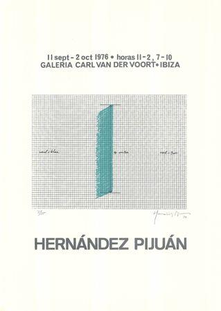 Siebdruck Hernandez Pijuan - Cartel de la exposición Galería Carl van der Voort, Ibiza