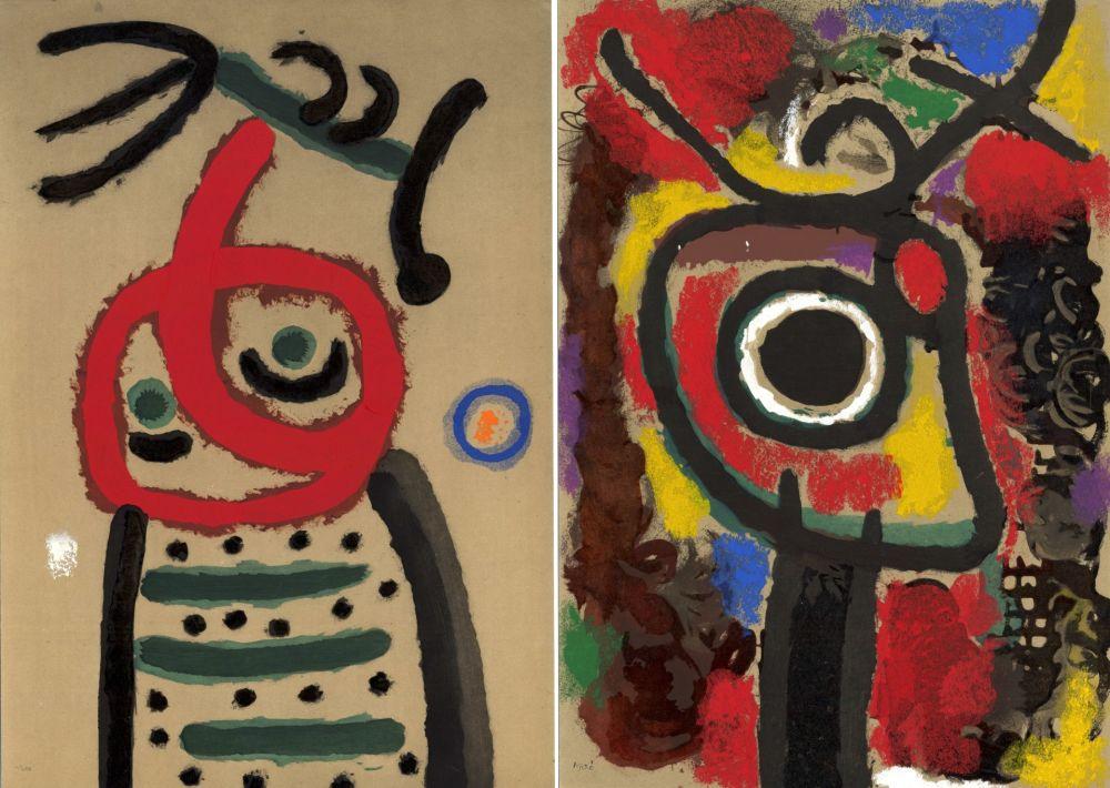 Illustriertes Buch Miró - CARTONES. New-York 1965