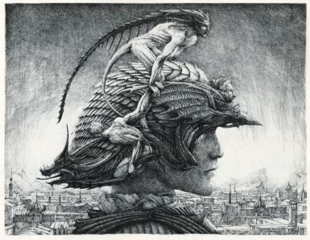 Stich Desmazières - Casque d'Apparat/Head of a soldier