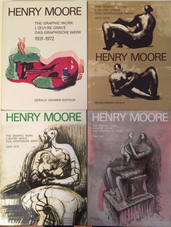 Illustriertes Buch Moore - Catalogue Raisonné of Henry Moore Graphic Work 1931 - 1984 (4 Volume Set)