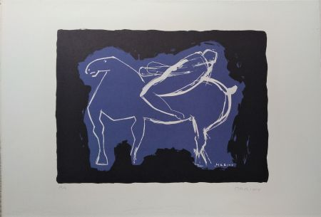 Lithographie Marini - Cavaliere
