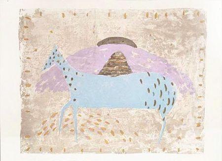 Lithographie Music - Cavallino azzurro